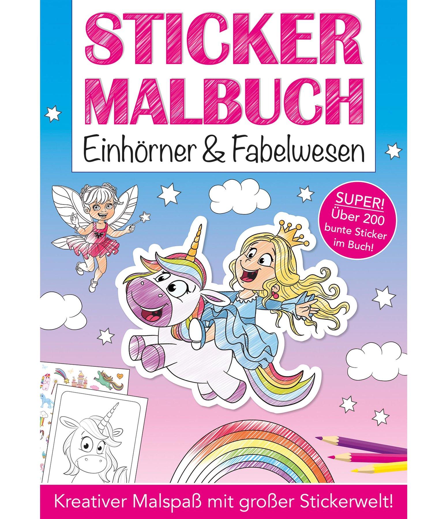 Sticker Malbuch Einhörner & Fabelwesen - Kinderbücher - Krämer ...