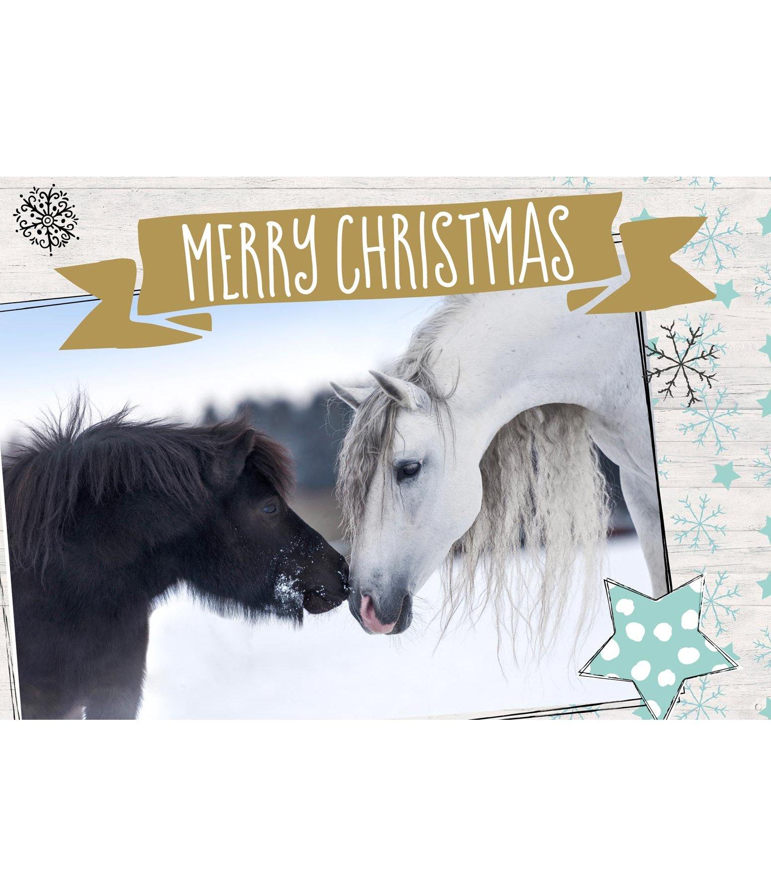 Grußkarte Merry Christmas III - Geschenkartikel - Krämer Pferdesport