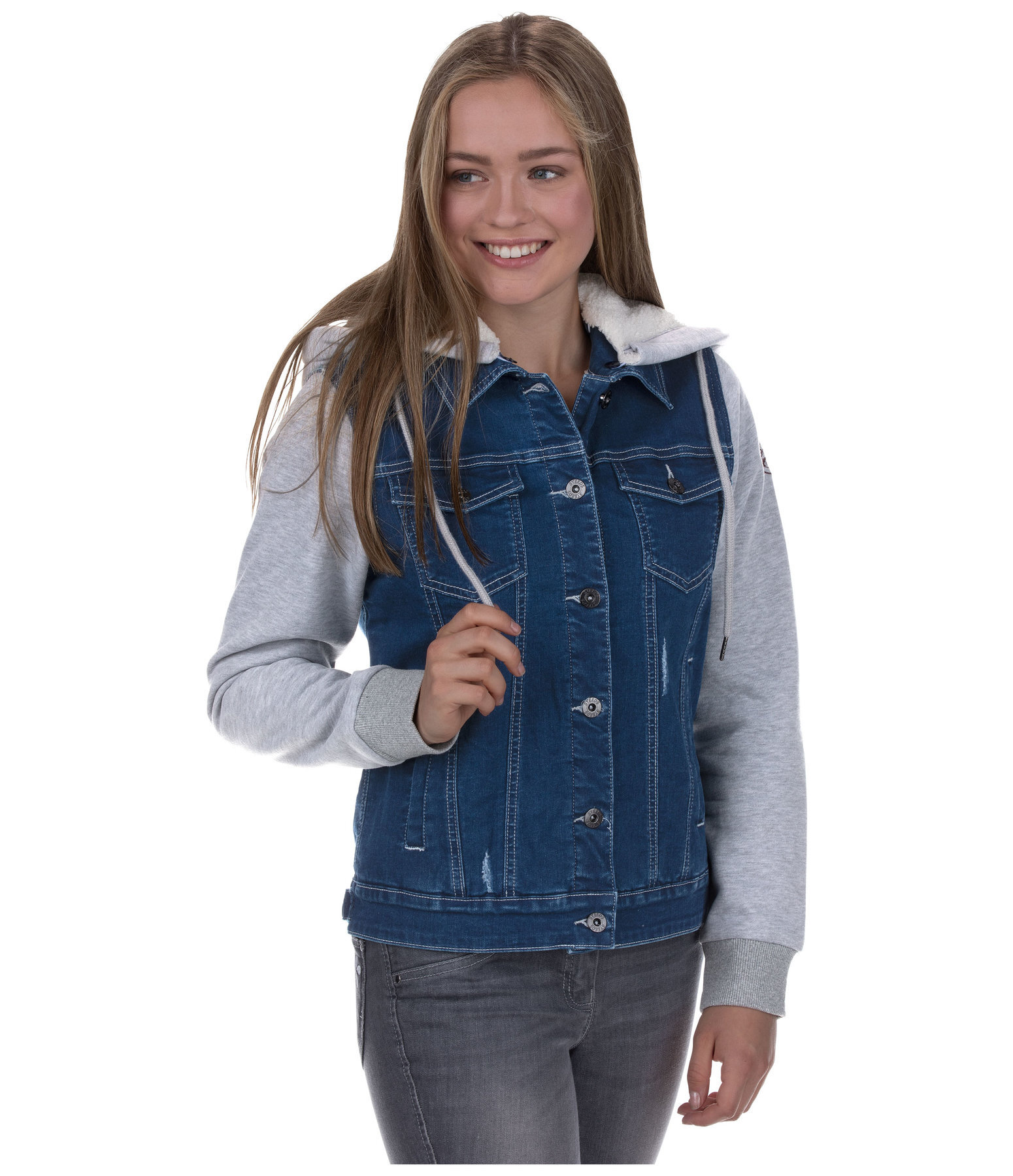 Kinder-Winter-Jeansjacke Eleni
