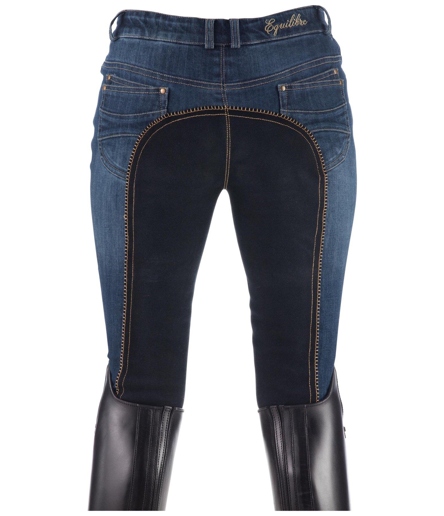 Kinder Reithose Jeans Vollbesatz CARA ELT jeansblau//nachtblau NEU