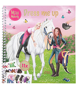Miss Melody -  Mal- und Stickerbuch Dress me up - 402499