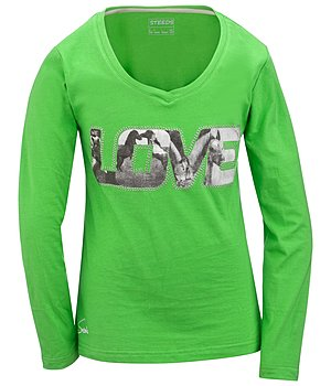 STEEDS Kinder-Langarmshirt Love - 680355-128-KW