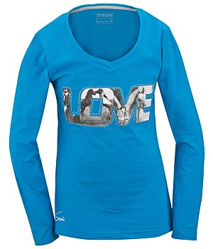 STEEDS Kinder-Langarmshirt Love - 680355-128-TU