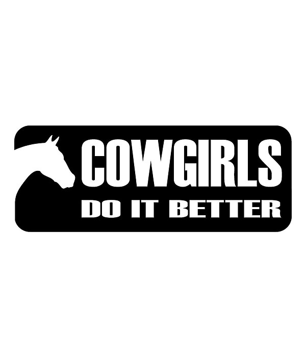Krämer Aufkleber Cowgirls do it better - 180598